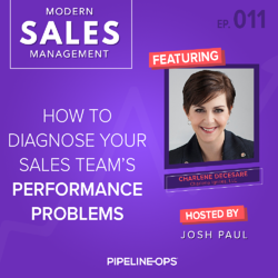 how to diagnose your sales team's performance problems with Charlene DeCesare