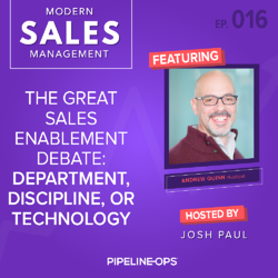 the sales enablement debate with Andrew Quinn