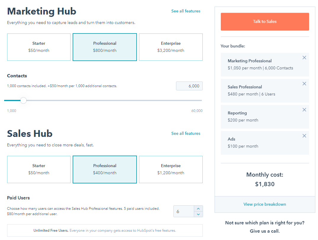 Budgeting for HubSpot costs