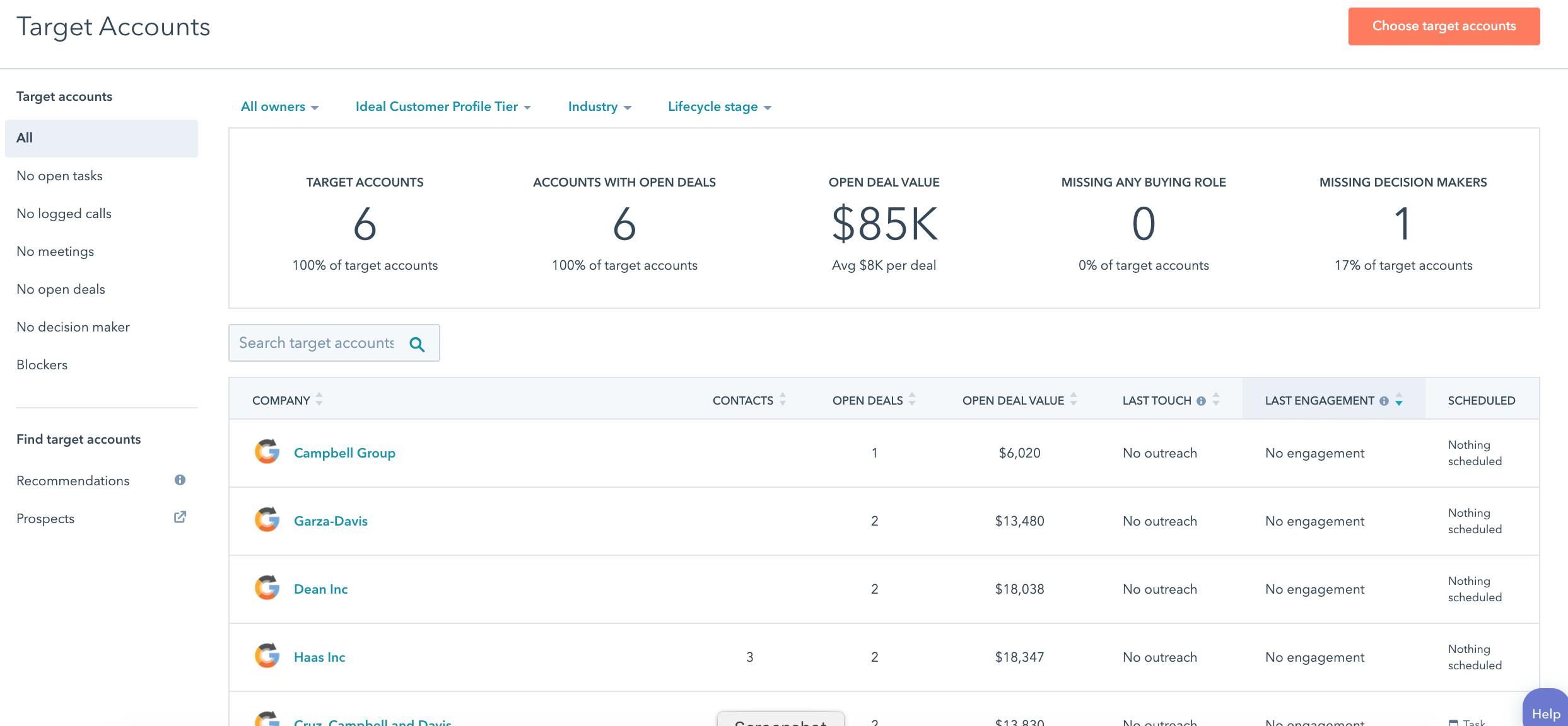 Using HubSpot account-based marketing tools